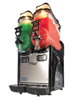 cofrimell oasis 2-10 double bowl frozen drinks machine