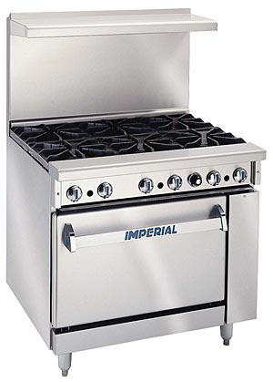 Imperial 6 Burner Range with Oven